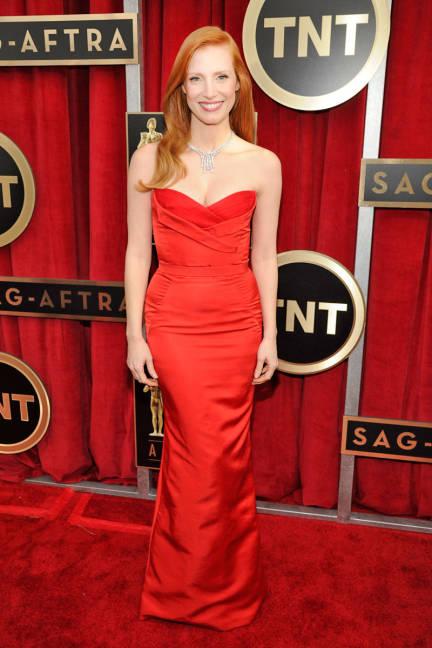 SAG Awards Jessica Chastain Alexander McQueen