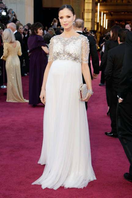 Georgina Chapman wearing Marchesa #Oscars Academy Awards 2013