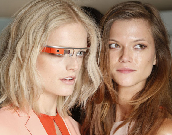 Google Glass project and Diane Von Furstenberg SS Fashion week