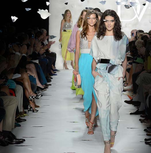 Google Glass project and Diane Von Furstenberg Fashion Week SS 2013
