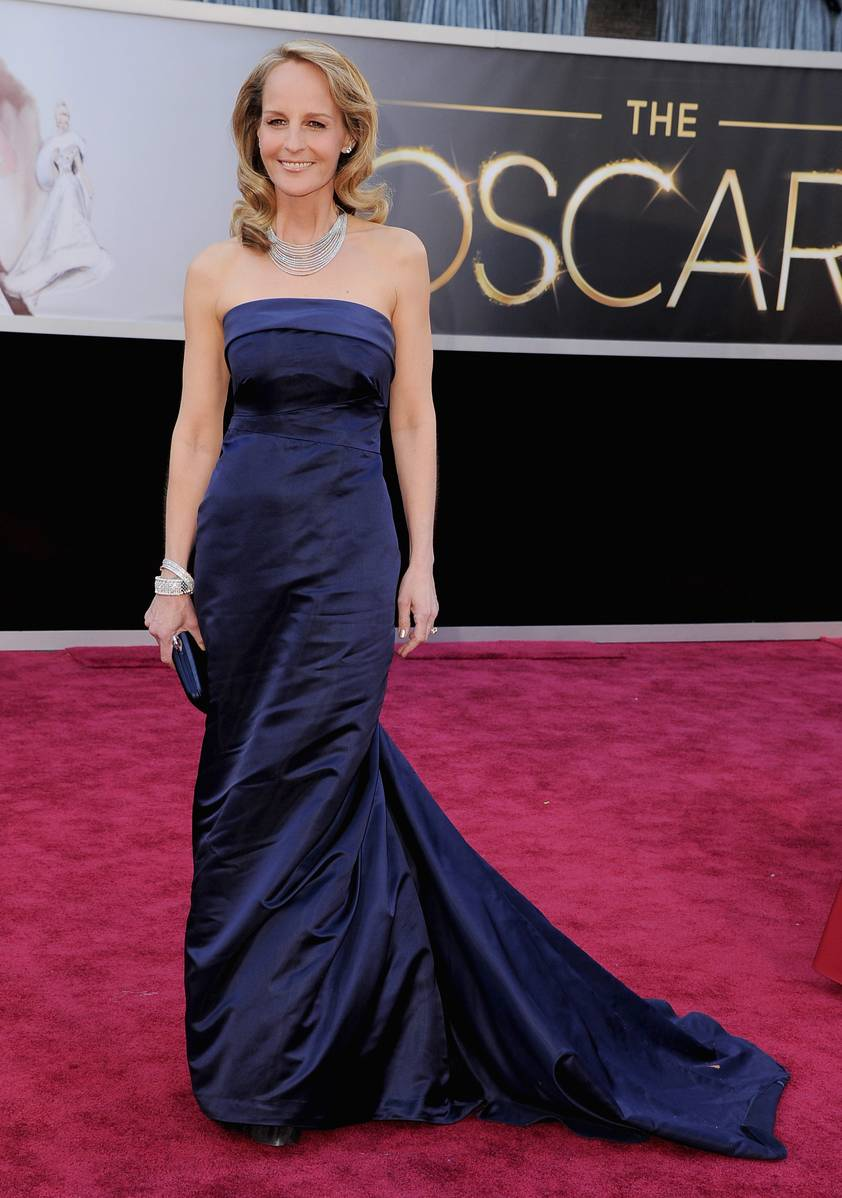 Helen Hunt wearing HM and Martin Katz jewelry #Oscars Academy Awards 2013
