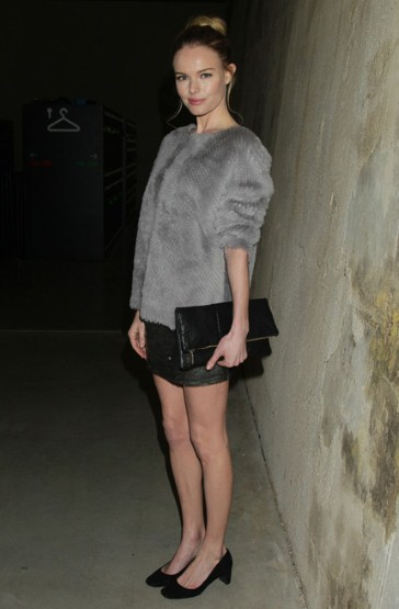 kate-bosworth wearing a fur coat