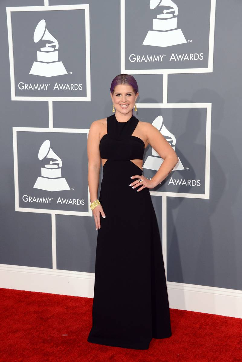 Kelly Osbourne arrives at the 55th Annual GRAMMY Awards