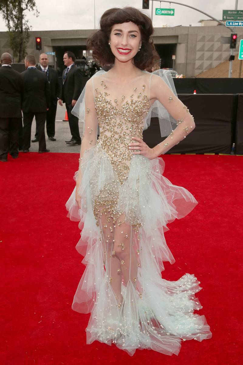 Kimbra attends the 55th Annual GRAMMY Awards
