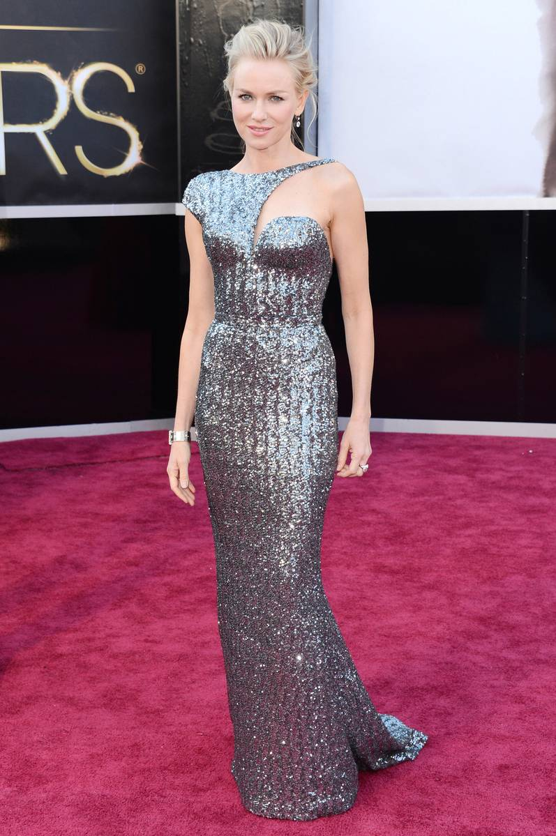 Naomi Watts wearing Armani Prive Oscars 2013