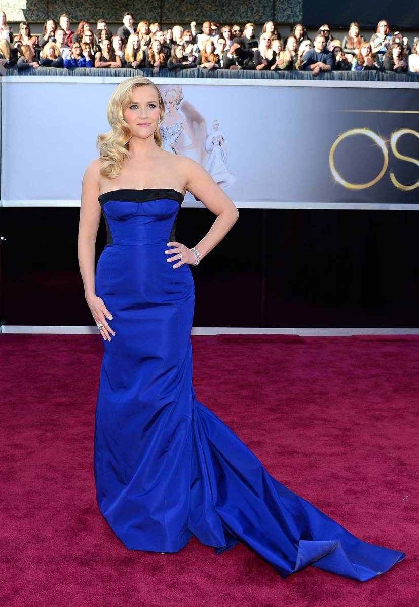 Resse Witherspoon wearing Louis Vuitton Oscars 2013