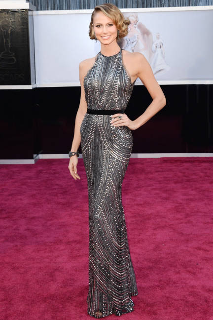 Stacy Keibler wearing Naeem Khan Oscars 2013