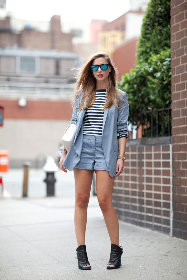 suit, shorts, sprin trends and fashion week street style 2013