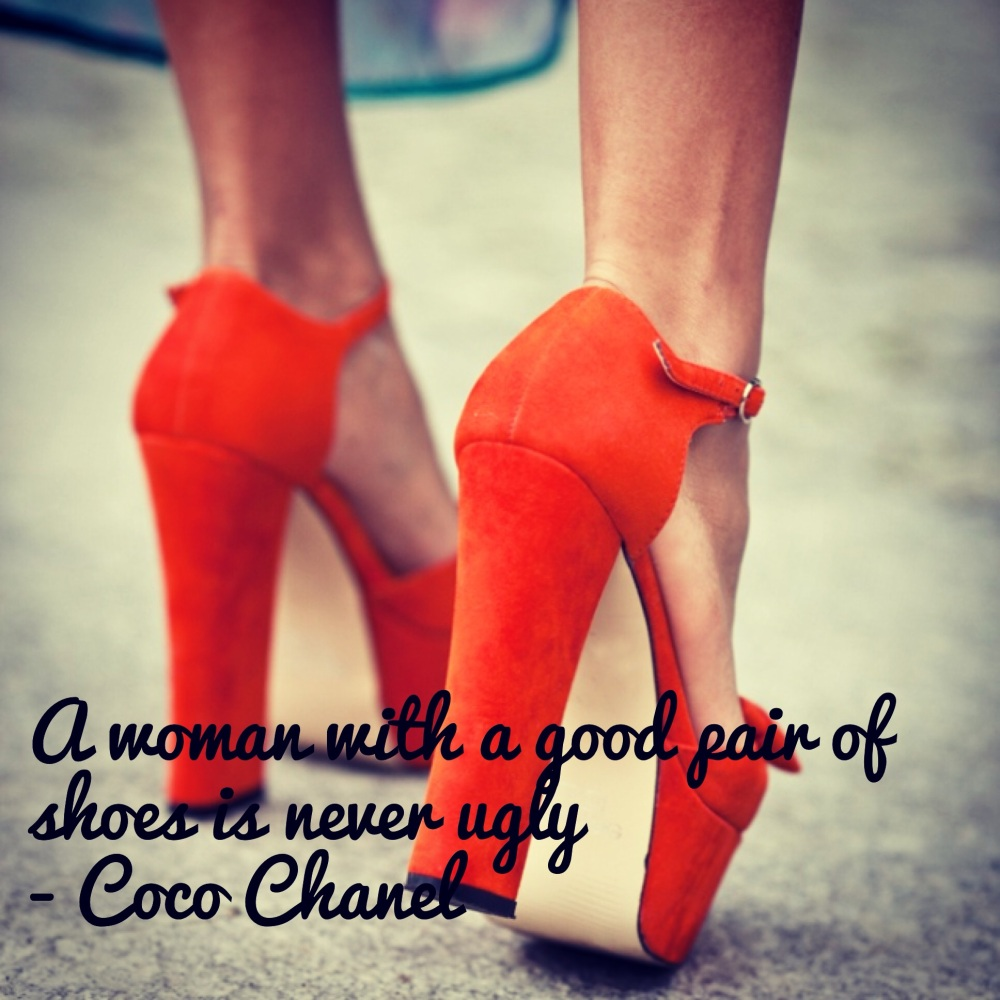 Coco Chanel quote and shoes