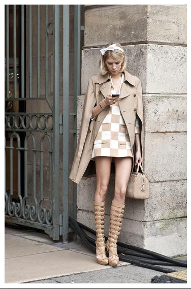 Elena Perminova - Paris Fashion Week 2013