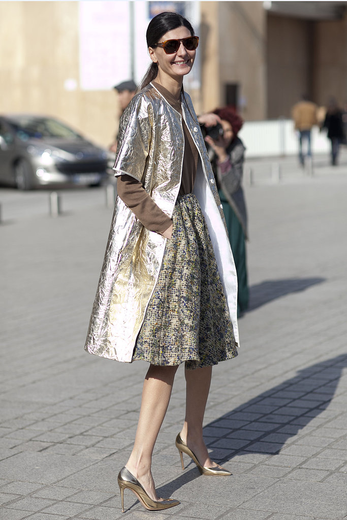 metallic trench coat spring trends fashion week street style 2013
