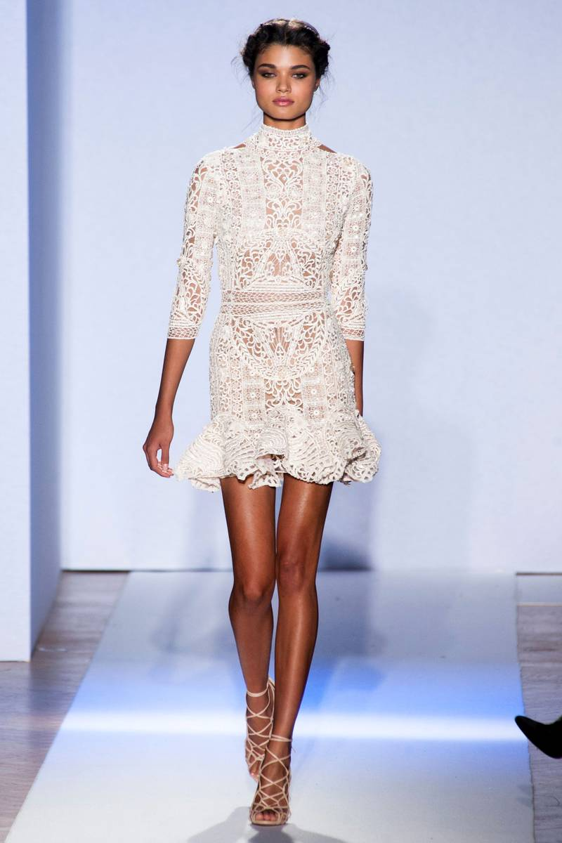Zuhair Murad spring trends fashion week 2013 white lace dress