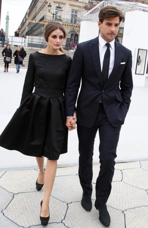 Olivia Palermo and boyfriend Johannes Huebl fashion icon spring fall summer winter fashion week