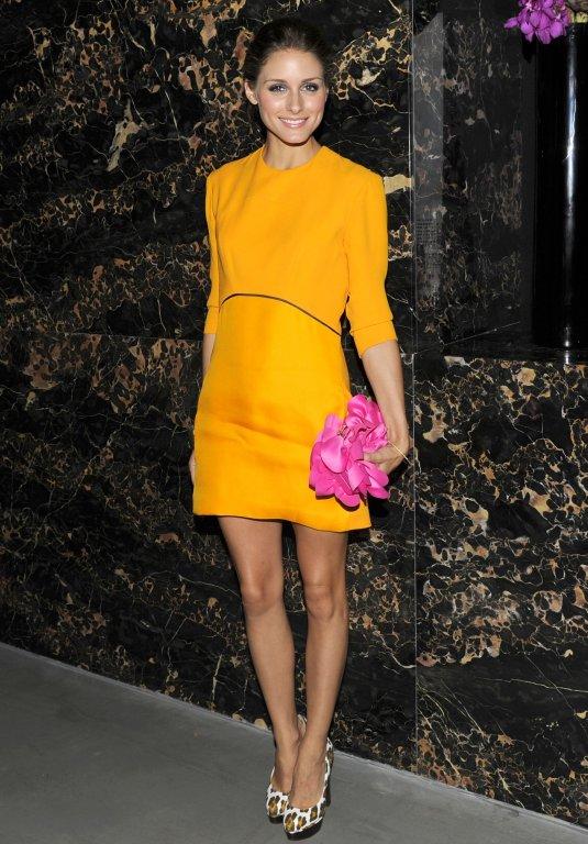 Olivia Palermo fashionista spring yellow dress