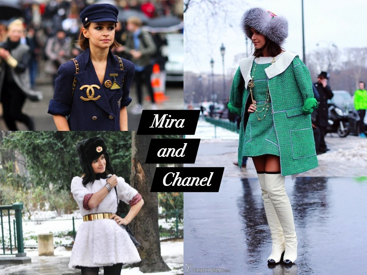 Miroslava Duma and Chanel
