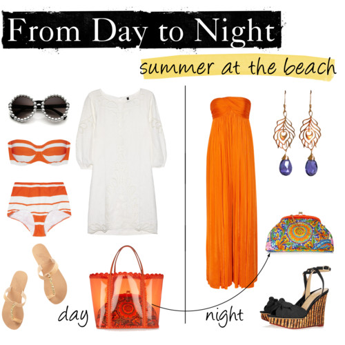 day to night outfit, beach summer