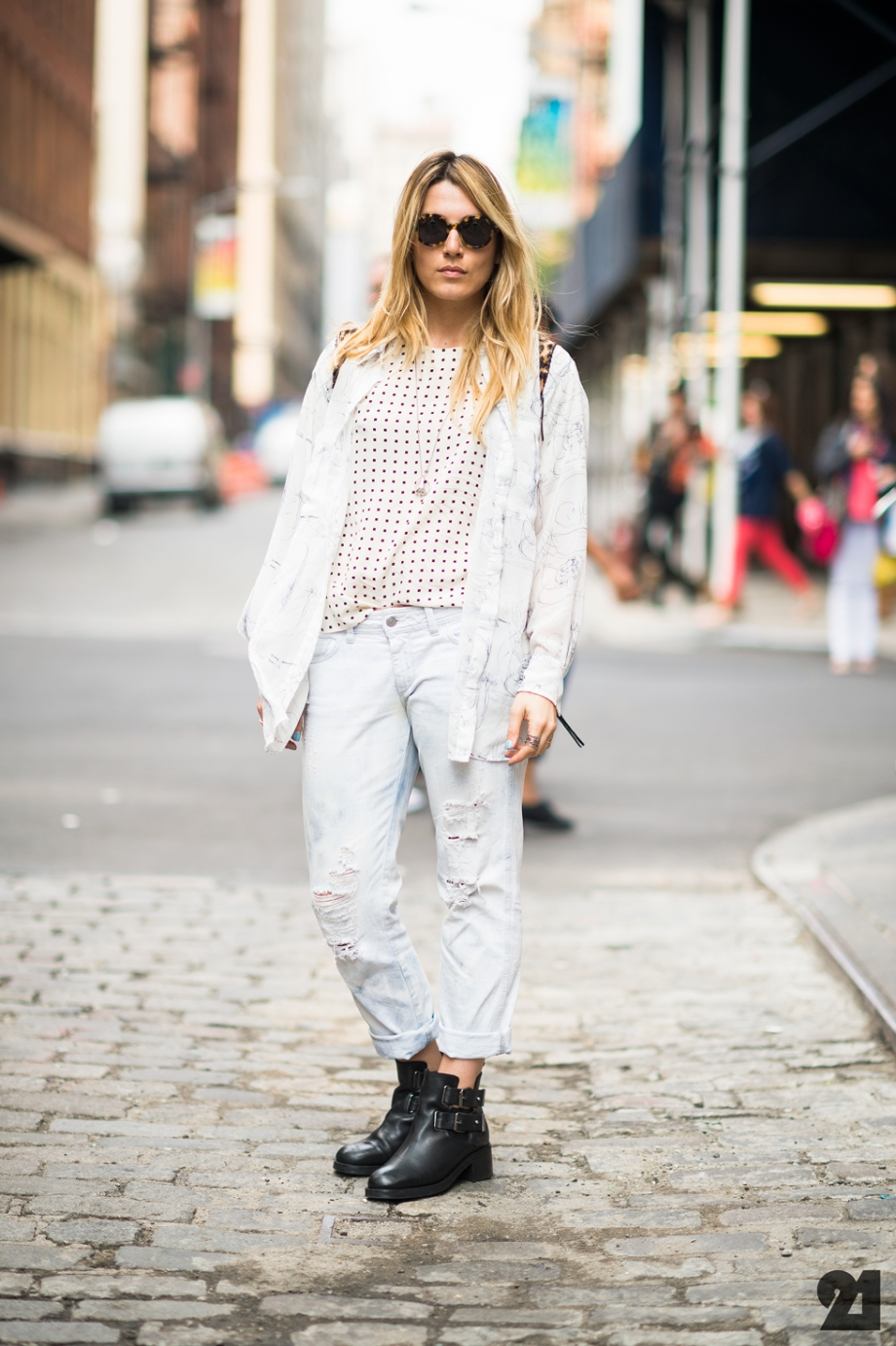 Jessy Cain Soho new york fashion week street style