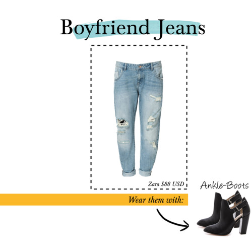 boyfriend jeans ankle boots