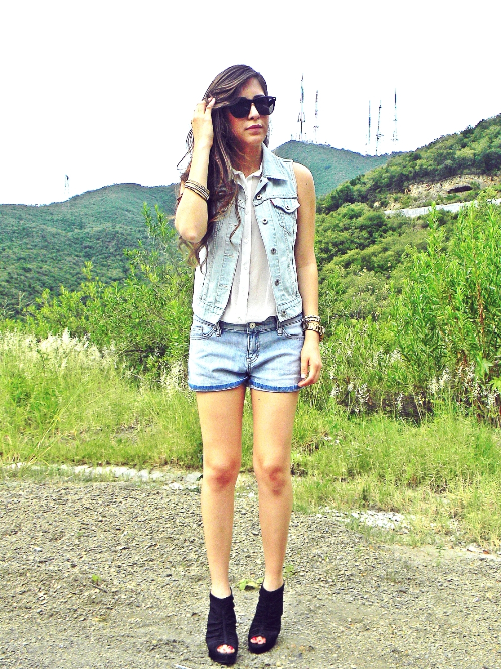 denim vest street style summer fashion 2013
