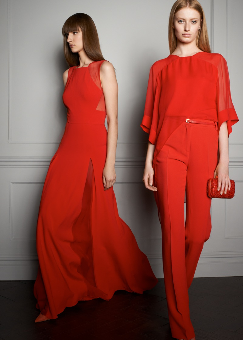 red dress Elie Saab resort 2014