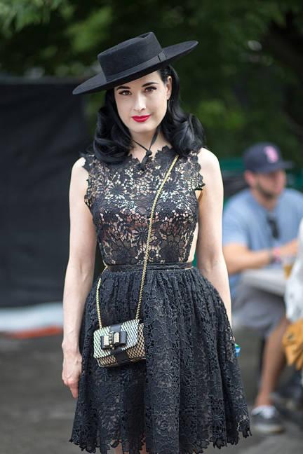 Dita Von Teese celebrity lollapalooza style 2013