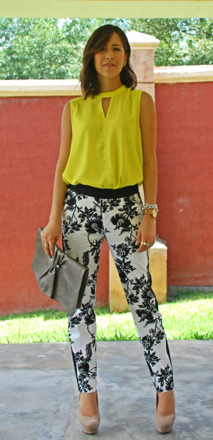 printed pants hm forever 21