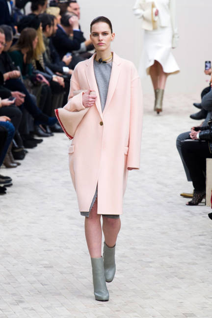Celine fall 2013 rtw pink coat