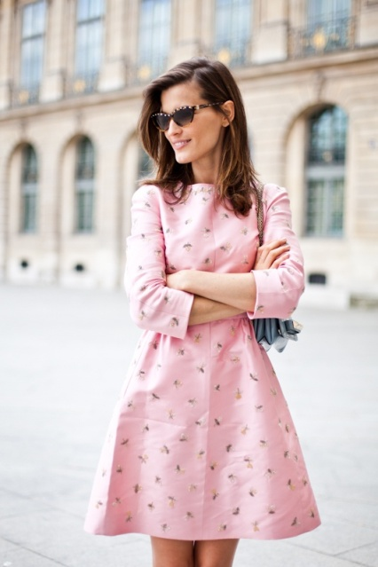 Hanneli Mustaparta style pink dress