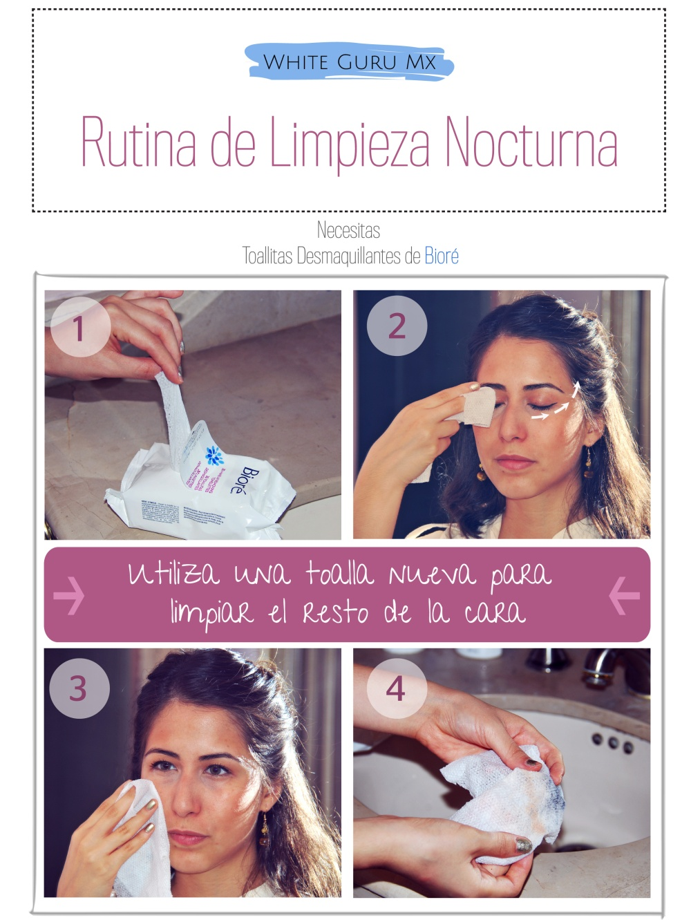 Pasos para una buena limpieza facial en la noche