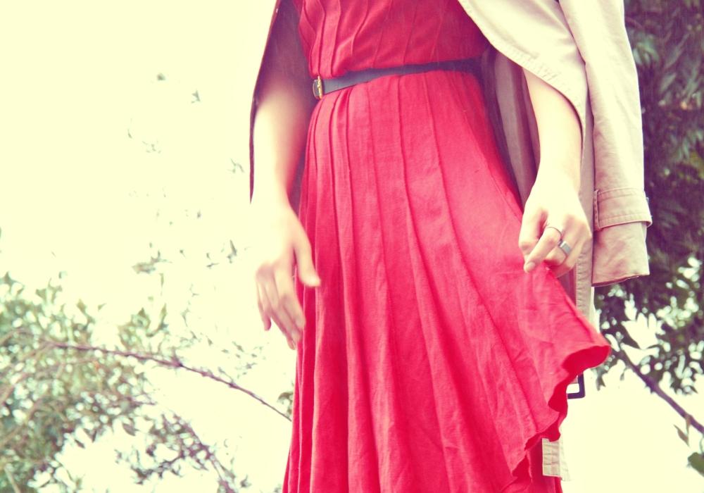 red dress calvin klein