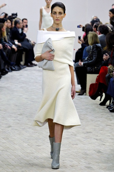 Mid-skirt trend Céline fall winter 2013