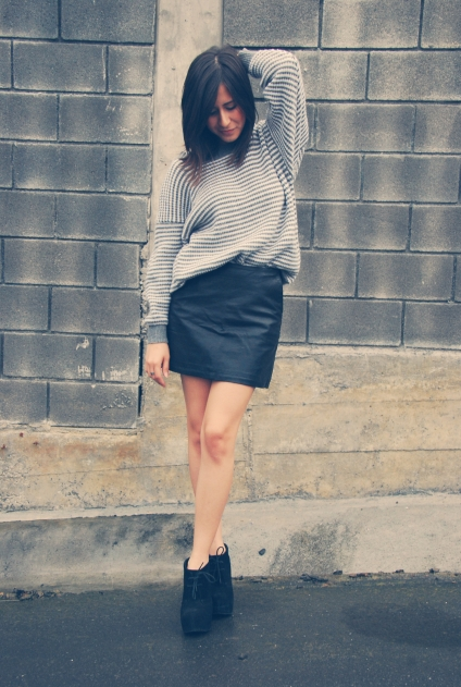 leather skirt winter trends