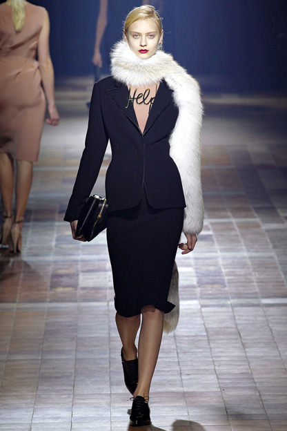 Fur trend fall winter Lanvin 2013