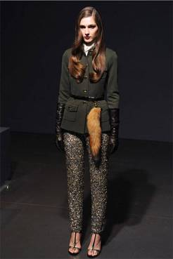 Fur accessories fall 2013 St. John