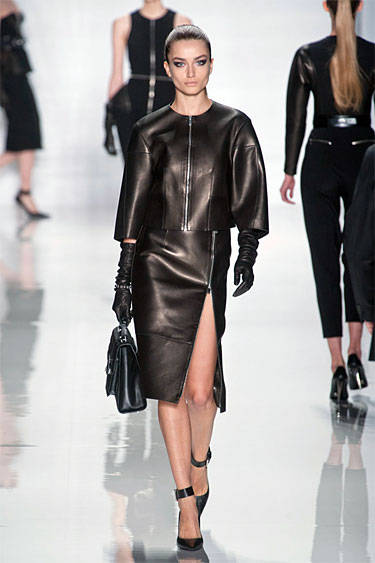 Leather Michael Kors fall 2013