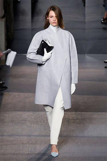 Gray coat Proenza Schouler fall 2013