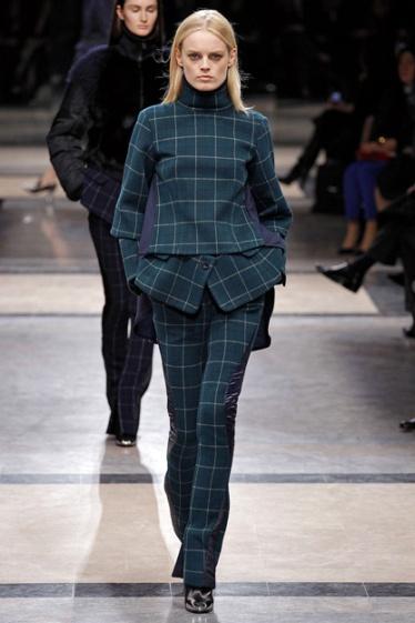 Masculine fabrics trend Sacai Fall winter 2013