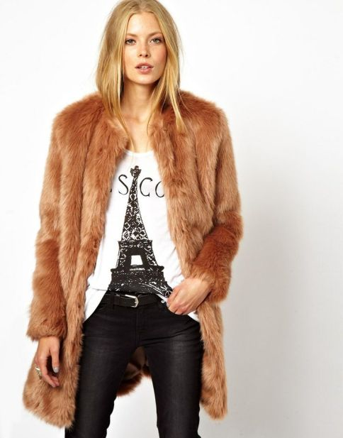 faux fur coat asos